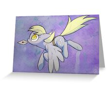 Derpy Hooves has mail (watercolor) Greeting Card
