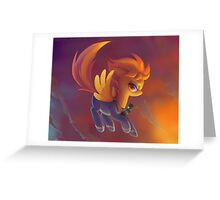Spitfire in the sky Greeting Card