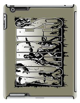 Bruyn - Zombies iPad Case 01 by Craig Bruyn
