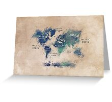 World map continents  Greeting Card
