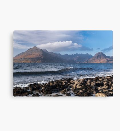 The view from Elgol, Isle of Skye, Scotland Canvas Print