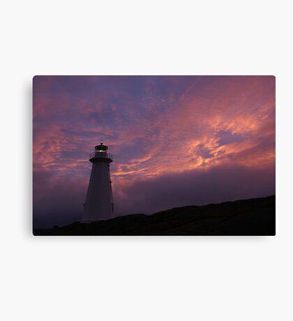 Beacon; Cape Spear Sunrise Canvas Print