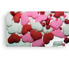 Valentine Sprinkles Canvas Print
