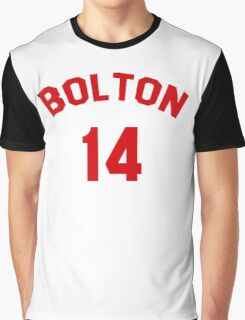 High School Musical: Bolton Jersey Red Graphic T-Shirt