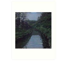 Byrrill Creek, Mt Warning Art Print