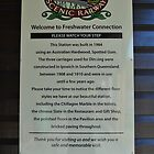 Sign at Freshwater station by sarbi