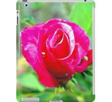 Hot pink rosebud iPad Case/Skin