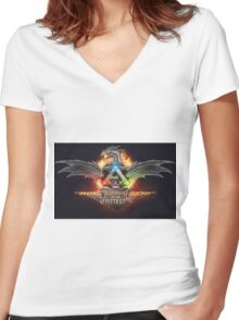 Ark - Survival of the fittest NEW Women's Fitted V-Neck T-Shirt