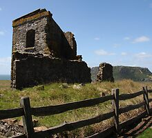 Convict Barracks Ruins and The Nut, Tasmania by Terry Gibson