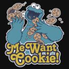 Cookie Monster- I Want Cookies by Nina Stanic