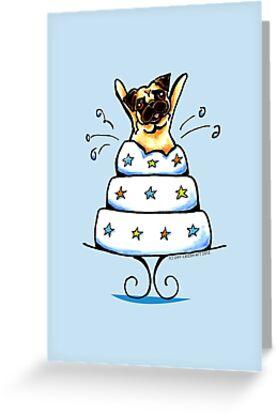 Pug Cake Trick by offleashart