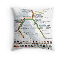 Decolonized Area Rapid Transit (DART) poster Throw Pillow