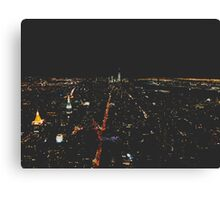 Lights from the Empire State Building at Night Canvas Print