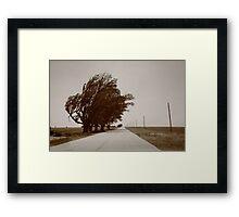 Oklahoma Route 66, 2012, Sepia. Framed Print
