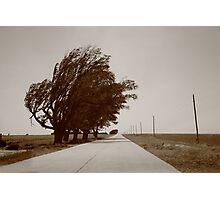 Oklahoma Route 66, 2012, Sepia. Photographic Print