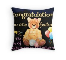 For The Love Of Teddys Feature Banner Throw Pillow