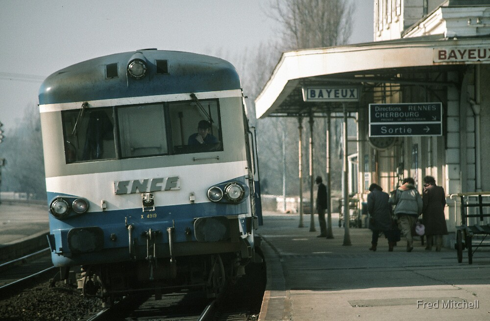 Bayeaux railway station 198402180027  by Fred Mitchell