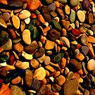 Pebbles splash back on 6mm Glass  by Martin Dingli