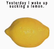 "90's Alternative ""Yesterday I woke up sucking a lemon"" Rock  T-Shirt"