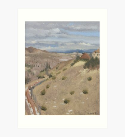 Westpoint Hill (Plein-air Study) Art Print