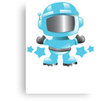 Little cute Space man in a Blue space suit Canvas Print