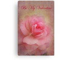Be My Valentine - Card Canvas Print