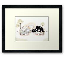 Good Karma Elephants Framed Print