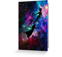 Peter Pan Galaxy Greeting Card