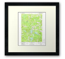 USGS TOPO Map New Hampshire NH Kingston 329616 1981 24000 Framed Print
