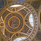 Dome in Szechenyi Baths, Budapest, Hungary by Margaret  Hyde