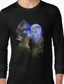 Exclusive Three Dinosaur Moon Shirt! Long Sleeve T-Shirt