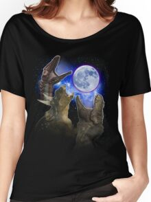 Exclusive Three Dinosaur Moon Shirt! Women's Relaxed Fit T-Shirt
