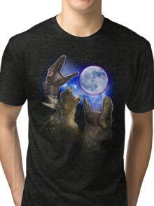 Exclusive Three Dinosaur Moon Shirt! Tri-blend T-Shirt
