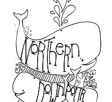 Northern Downpour Membership shirt - Whales by emmabunclark