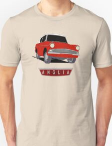 Ford Anglia - Two Tone Red And White T-Shirt