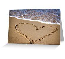 Fleeting Heart on a Sandy Beach Greeting Card