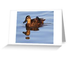 """Strange Fowl Reflections"" Greeting Card"