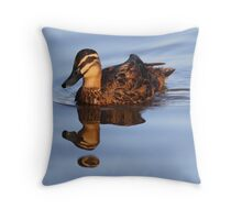 """Strange Fowl Reflections"" Throw Pillow"