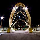 Seafarers Bridge, South Wharf - Melbourne by Patricia Gibson