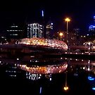 Webb Bridge Reflections  - Melbourne Docklands by Patricia Gibson