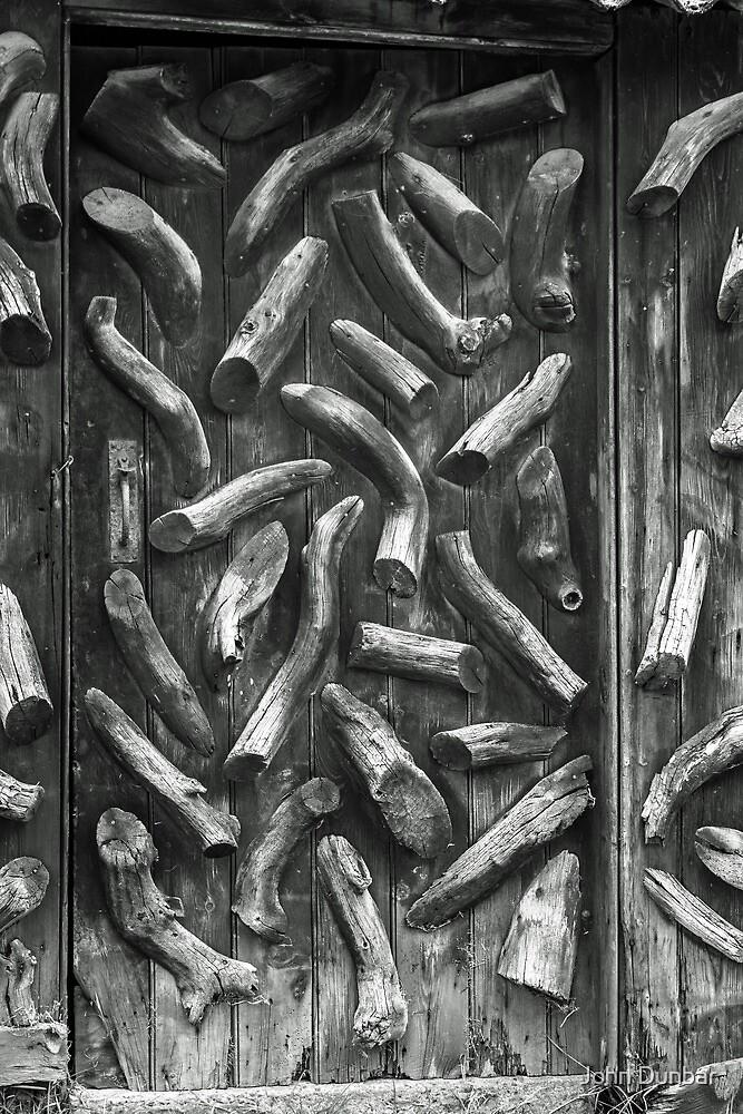 Old Woodshed Door by John Dunbar