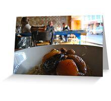 Breakfast Café - aesthetic detail Greeting Card