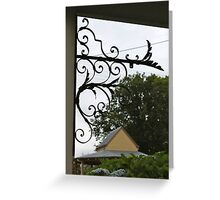 Ironwork decoration Trentham, Victoria Australia Greeting Card