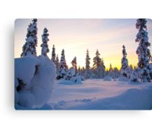 Lapland sunset Canvas Print