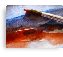 Red & Blue Water Canvas Print