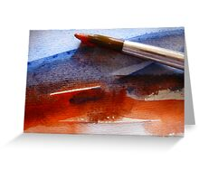 Red & Blue Water Greeting Card