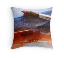 Red & Blue Water Throw Pillow