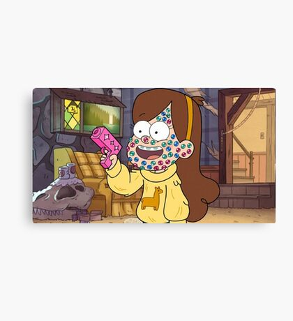 """I successfully bedazzled my face!""-MABEL, GRAVITY FALLS Canvas Print"