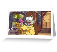 """""""I successfully bedazzled my face!""""-MABEL, GRAVITY FALLS Greeting Card"""