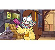 """I successfully bedazzled my face!""-MABEL, GRAVITY FALLS Photographic Print"